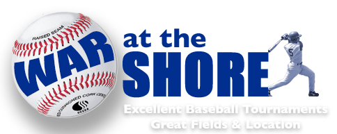 War at the Shore Baseball Tournaments Logo
