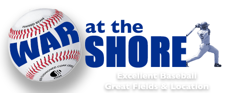 War at the Shore Baseball Logo